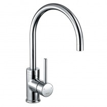 1810 Courbe Curved Spout Kitchen Mixer Tap Chrome