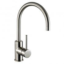 1810 Courbe Curved Spout Kitchen Mixer Tap Brushed Steel