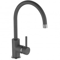 Courbe Curved Spout Sink Mixer Grey