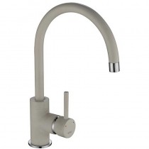 Courbe Curved Spout Sink Mixer White