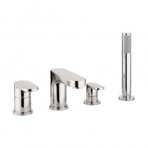Style Bath Shower Mixer 4 Hole Set With Kit