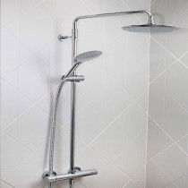 Carre Exposed Fixed Head Bar Shower with Diverter & Kit