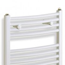 TS 500 x 1150 Towel Rail Curved White Pack