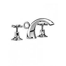 Art Deco 3 Hole Basin Mixer