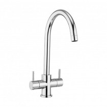 Design Dual Lever Kitchen Mixer Round