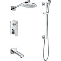 Dekka Manual Shower With Fixed Head, Bath Spout and Shower Kit