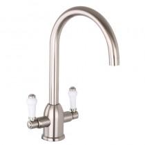 Dephini Monobloc Sink Mixer Brushed Nickel