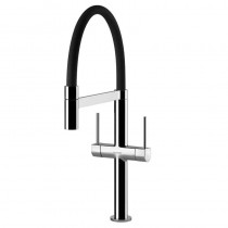 Dorado Kitchen Sink Mixer Chrome Black Spout