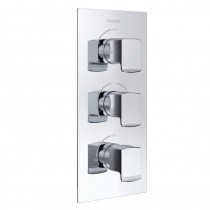 Descent Recessed Shower with Intergral Twin Stopcocks