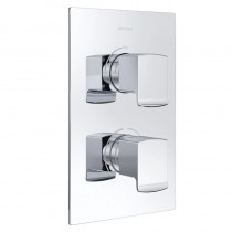 Descent Recessed Shower with Single Outlet