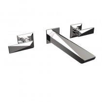 Ebony 3 Hole Wall Mounted Basin Mixer