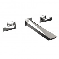 Ebony 3 Hole Wall Mounted Bath Filler