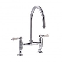 Elegance Bridge Kitchen Mixer Tap Chrome