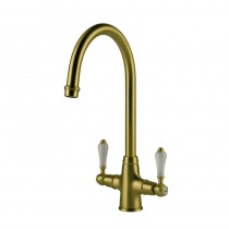 Elegance Mono Sink Mixer Brushed Bronze