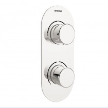 Exodus Thermostatic Shower Valve with Two Outlet Diverter