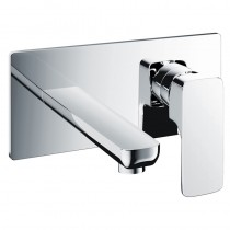 Flute 2 Hole Wall Mounted Basin Mixer