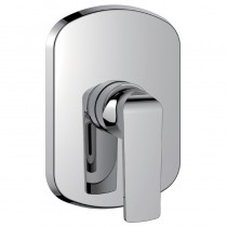 Fusion Concealed Manual Shower Mixer Large Plate Chrome