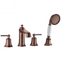 Liberty 4-Hole Bath Shower Mixer Set Bronze