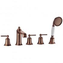Liberty 5-Hole Bath Shower Mixer Set Bronze Tech