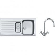 Franke Argos 1.5 Bowl Inset Sink & Chrome Rotaflow Tap