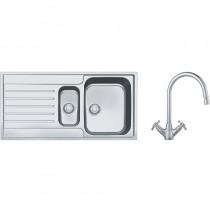 Franke Argos 1.5 Bowl Inset Sink & Silk Steel Rotaflow Tap