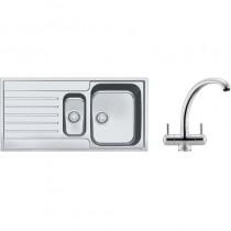 Franke Argos 1.5 Bowl Inset Sink & Chrome Zurich Tap