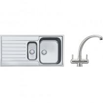 Franke Argos 1.5 Bowl Inset Sink & Silk Steel Zurich Tap