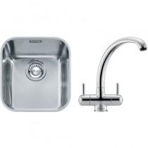 Franke Ariane (ARX 110 33) 1B Undermount Sink & Chrome Zurich Tap