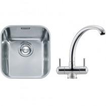 Franke Ariane (ARX 110 33) 1B Undermount Sink & Silk Steel Zurich Tap
