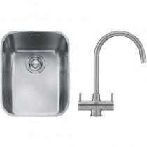 Franke Ariane (ARX 110 35) 1B Undermount Sink & Silk Steel Athena Tap