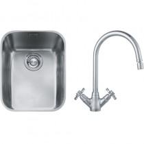Franke Ariane (ARX 110 35) 1B Undermount Sink & Silk Steel Rotaflow Tap