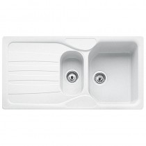 Franke Calypso 1.5 Bowl Inset Sink Polar White