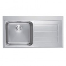 Franke Epos 1 Bowl RHD Inset Sink Stainless Steel