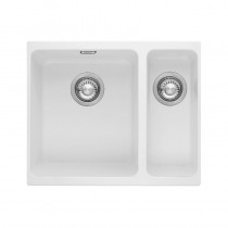 Franke Kubus 1.5 Bowl Undermount Sink Polar White