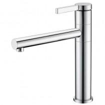 Galatea Top Lever Monobloc Sink Mixer Brushed Nickel
