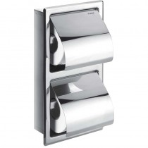 Gloria Double Concealed Toilet Roll Holder