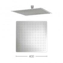 Glide Stainless Steel Square Shower Head 400mm
