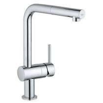 Minta Touch Kitchen Mixer with Pull Out Mousseur Brushed Steel