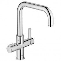 Grohe Duo Filtered Boiling Water Tap 'U' Spout Brushed Steel