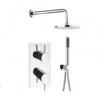 Crosswater Kai Lever Two Outlet Valve,Central 200mm and Design Shower Kit with Wall Outlet Pack