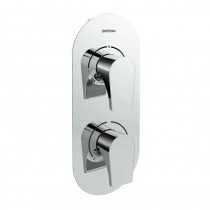 Hourglass Recessed Shower with Integral Two Outlet Diverter