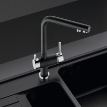 Hydra Mixer and Cold Filter With Swivel Spout Chrome / Nero