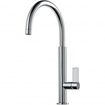 Jovian Single Lever Monobloc Kitchen Tap Tall C Spout Brushed Nickel