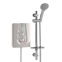 Joy 9.5kW Thermosafe Electric Shower Metallic Silver