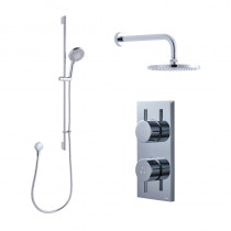 Crosswater Kai Dual Outlet Shower with Digital Processor and 200mm Central Shower Head and 330mm Arm Central Shower Kit High Pressure - KAI PACK 05