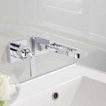 Crosswater KH Zero 1 Wall Mounted 2 Hole Basin Mixer