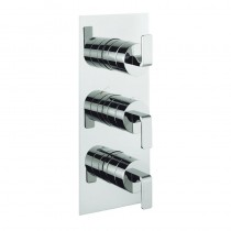 Crosswater KH Zero 1 Thermostatic Shower Valve 3 Way Portrait