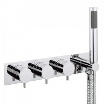 Kai Lever Thermostatic Shower Valve with 2 Stopcocks and Handset