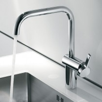 Livello Single Lever Mixer with Swivel Spout Stainless Steel