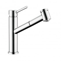 Larissa Top Lever Monobloc Kitchen Tap Pull Out Spray Brushed Nickel